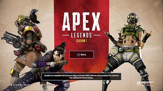 Apex Legends: Solución para arreglar el código de error 100 en PS4, Xbox One y PC
