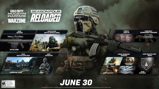 Modern Warfare Warzone: fecha y hora de la próxima actualización de la temporada 4