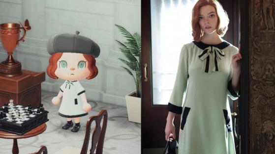 Así puedes tener los vestidos de Beth en Gámbito de dama en Animal Crossing New Horizons