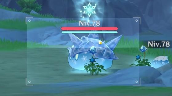 Impacto de Genshin: criatura azul,