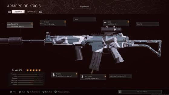 Warzone - Krig 6: Su mejor clase y accesorios para la Temporada 3