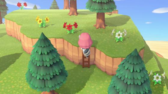 Animal Crossing: New Horizons - Conseguir la escalera para acceder a otros pisos de la isla