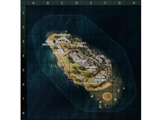 El mapa de Alcatraz. - Call of Duty : Modern Warfare