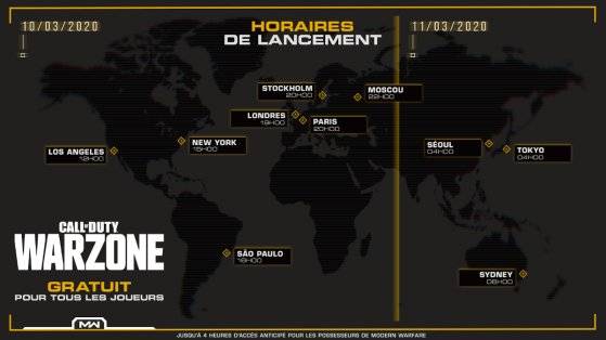 Call of Duty Modern Warfare: Warzone Battle Royale, hora de lanzamiento, peso de descarga