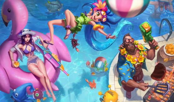 LoL - Parche 10.13: Estos son los nuevos Splash Art de las skins fiesta en la piscina