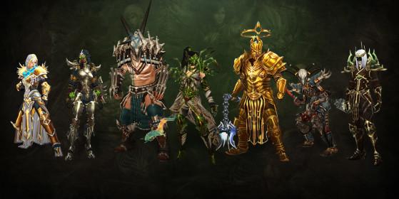Los nuevos conjuntos de clases introducidos en los últimos parches. - Diablo 4