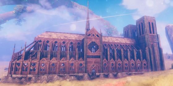 Valheim: Un jugador crea la catedral de Notre Dame al detalle ¿La mayor construcción del juego?