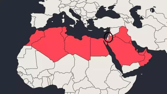En negro, la ubicación geográfica de Palestina - League of Legends