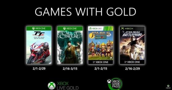 Estos son los Games with Gold gratuitos de febrero de 2020