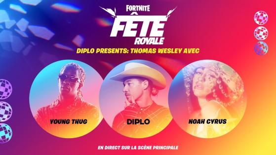 Fortnite: Concierto de Young Thug, Diplo, Noah Cyrus en Fiesta Magistral, información y fechas