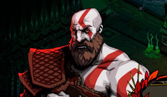 Así sería el cameo de Kratos en Hades, si no fuera un crossover imposible