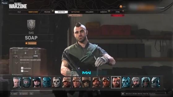 Soap en el juego. - Call of Duty : Modern Warfare