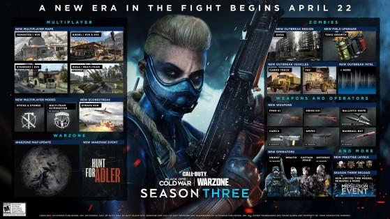 Hoja de ruta oficial de la Temporada 3 de Warzone y Black Ops Cold War. - Call of Duty Warzone