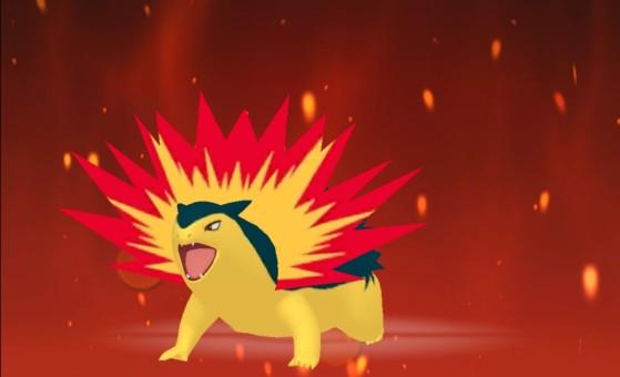 Tiflosión en su forma normal - Pokémon Espada y Escudo