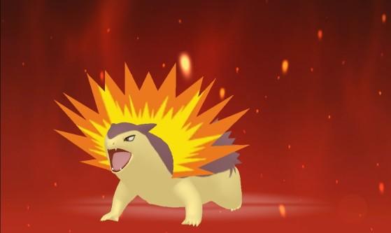 Tiflosión en su forma shiny - Pokémon Espada y Escudo