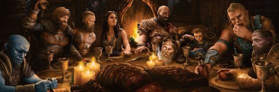 La imagen de la discordia con pistas sobre God of War Ragnarok. - God of War Ragnarok