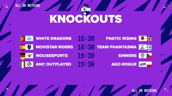 Así son los enfrentamientos del Play-In del European Masters. - League of Legends