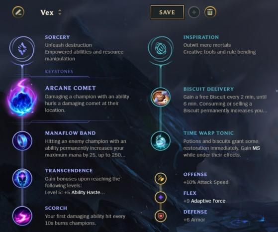 La mejor combinación de runas para Vex - League of Legends
