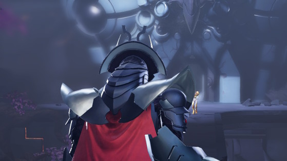 Este chozo es un personaje clave en la historia. - Metroid Dread