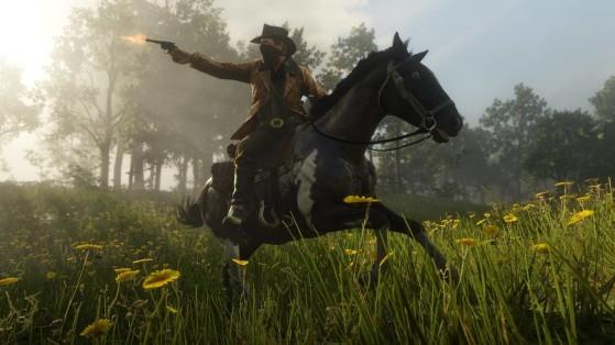 Los 15 tiros a la cabeza a caballo durante una medalla de persecución, una hazaña que tendrás que repetir. - Red Dead Redemption 2